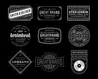 Weinlese-Logo, Insignien und Ausweise 4 stockfotografie
