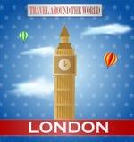 Weinlese-London-Reise Lizenzfreie Stockfotografie