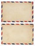 Weinlese-Luftpost-Umschlag Stockfotos