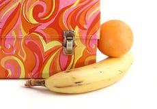 Weinlese Lunchbox lizenzfreies stockbild