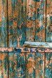 Weinlese malte hölzerne Hintergrundbeschaffenheit hölzernen verwitterten ru stockfotografie