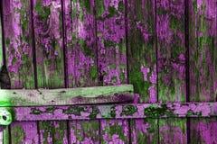 Weinlese malte hölzerne Hintergrundbeschaffenheit hölzernen verwitterten ru lizenzfreie stockfotografie