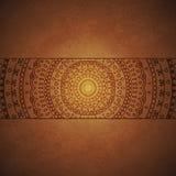 Weinlese-Mandala-Verzierungsabdeckung Stockfoto