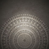 Weinlese-Mandala-Verzierungshintergrund Lizenzfreie Stockbilder