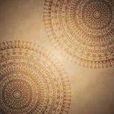 Weinlese-Mandala-Verzierungshintergrund Lizenzfreie Stockfotografie
