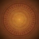 Weinlese-Mandala-Verzierungshintergrund Stockfoto