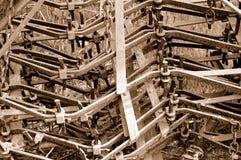 Weinlese-Maschinerie Stockbild