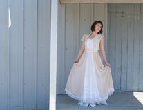 Weinlese Maxi Dress Stockfotos