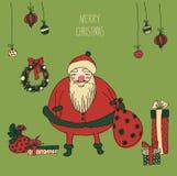 Weinlese-Metallschild - frohe Weihnachten Stockfoto