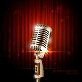 Weinlese-Mikrofon Lizenzfreies Stockbild