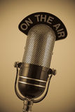 Weinlese-Mikrofon Stockbild