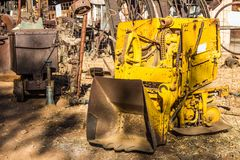 Weinlese Mini Scoop Mining Equipment Lizenzfreie Stockfotografie