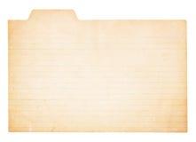 Weinlese mit Laschen versehene Indexkarte Lizenzfreies Stockbild