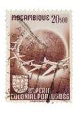 Weinlese-Mosambik-Briefmarke Lizenzfreies Stockfoto