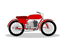 Weinlese Motorbike lizenzfreie stockfotografie