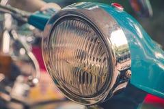 Weinlese-Motorrad-Scheinwerfer Stockfotos