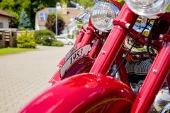 Weinlese-Motorraddetail Stockfotografie