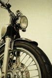 Weinlese-Motorradweinlese Hintergrund und clippingpath Stockbild
