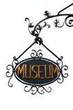 Weinlese-Museums-Zeichen (getrennt) Lizenzfreie Stockfotos