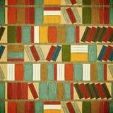 Weinlese-nahtloser Buch-Hintergrund Lizenzfreies Stockbild