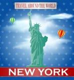 Weinlese-New- Yorkreise Stockbild