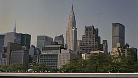 Weinlese-New- Yorkskyline stock video
