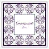 Weinlese Ornamentalfeld stockfoto