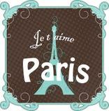 Weinlese-Paris-Karte Stockbild