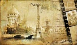 Weinlese Pariser almum lizenzfreie abbildung