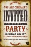 Weinlese-Partei-Einladungs-Hintergrund Stockfotos