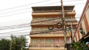 Weinlese-Pastellgebäude - Thailand lizenzfreie stockfotos
