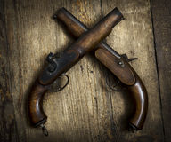 Weinlese-Pistolen Stockbild