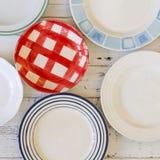 Weinlese-Platten sortierten keramisches Tin China Color Pattern White-Ba Lizenzfreies Stockfoto