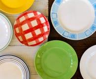 Weinlese-Platten sortierten keramisches Tin China Color Pattern White-Br Lizenzfreies Stockbild