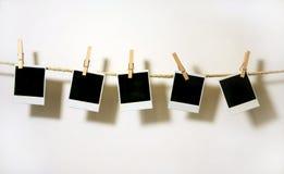 Weinlese-Polaroid-Felder Stockfotografie