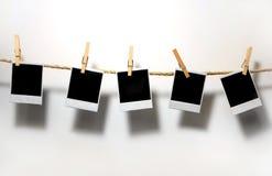 Weinlese-Polaroid-Felder Stockfotos
