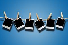 Weinlese-Polaroid-Felder Lizenzfreies Stockfoto