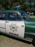Weinlese-Polizeiwagen Stockbild