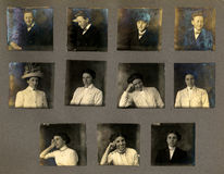 Weinlese-Portrait-Beweise Stockfotos