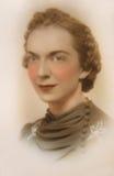 Weinlese-Portrait der Frau stockbilder