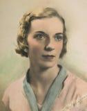 Weinlese-Portrait der Frau /Color Lizenzfreies Stockbild
