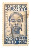 Weinlese-Portugal-Briefmarke Lizenzfreies Stockbild