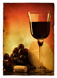 Weinlese poscard mit Nochlebensdauer Stockfoto