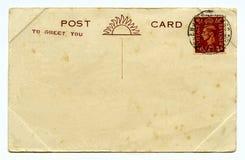 Weinlese-Postkarte Lizenzfreie Stockbilder