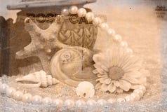 Weinlese-Postkarte-Hintergrund Stockfotos