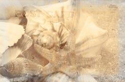 Weinlese-Postkarte-Hintergrund Lizenzfreie Stockbilder
