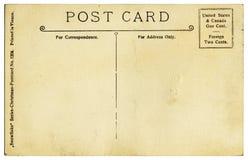 Weinlese-Postkarte-Rückseite Stockfoto