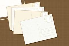Weinlese-Postkarten Stockbilder