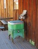 Weinlese-Presse-Waschmaschine Stockfoto