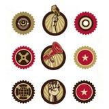 Weinlese-Propaganda-Logo Lizenzfreies Stockfoto